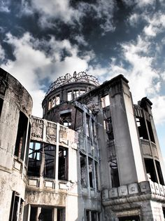 Hiroshima Peace Memorial Dome (the World Heritage), Japan 原爆ドーム   平和への祈りを新たに、合掌。 2015/8/6