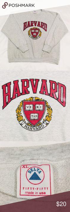 0e1297521 Vintage Harvard University Crewneck Sweater Vintage Harvard University  Crewneck Sweater. Delta Fifty-Fifty.