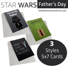 Star Wars Father's Day Cards- 3 Designs to Choose From