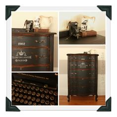 Typewriter Dresser by Q is for Quandie