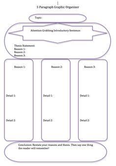 5 paragraph essay outline pdf file best teacher resources essay organizer 5 paragraph fandeluxe Gallery