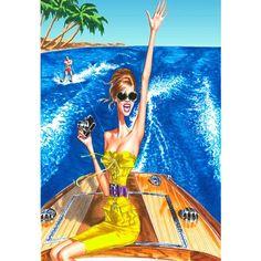 @Siempre Elegante Mujer Hoy Magazine. Illustration 'beach'