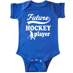 Inktastic Dreaming About Hockey Infant Creeper Ice Field Sports Team Cute Puck