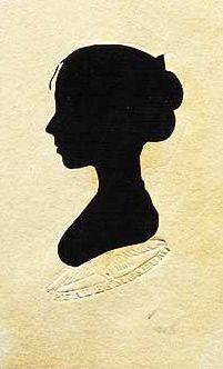 peale's (philadelphia) silhouette of anne thompson - ca. 1810