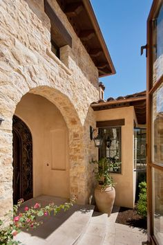 Mediterranean Home Exterior Closed soffit Design Ideas, Pictures, Remodel and Decor