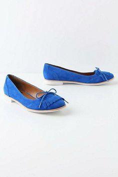 #blue flat shoes