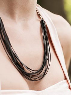Beautiful jewelry made out of retired bicycle parts  Re-Cycle Necklace 2 | Christine Moser Designs
