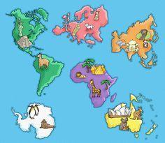 símbolos de los continentes