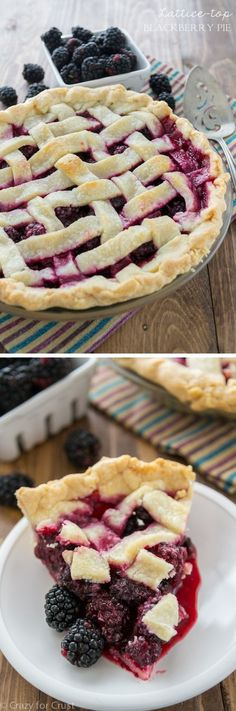 Lattice Blackberry Pie and a photo tutorial on how to make a lattice-top pie crust!