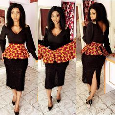 African Office Wear Styles ; Look at The Best Women's Work Dresses - Zaineey's Blog FacebookTwitterGoogle+WhatsAppAddthis