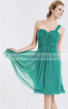 None Knee-length Natural A-line Chiffon Formal Dresses b1400039--Hodress