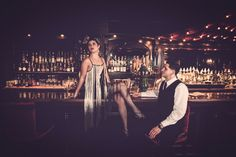 Speakeasy Engagement Shoot | The Frosted Petticoat #MySecretBar