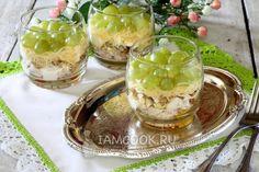 Фото салата с виноградом и курицей