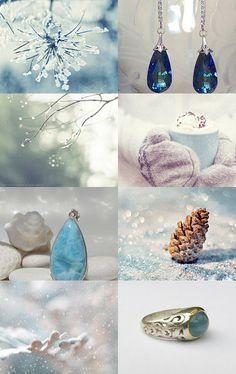 snow blue by Tsvetomira Nikolova on Etsy--Pinned with TreasuryPin.com Stunningly beautiful collection!