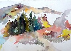 The Rockies watercolor by betsy leavitt