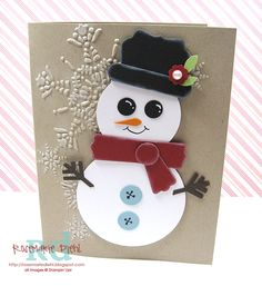 snowman punch art - bjl