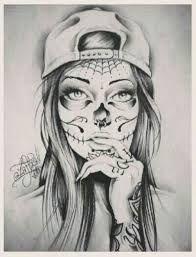 black and white sugar skull girl tattoo Tattoo Bein Frau, Tattoos Bein, Arm Tattoos, Body Art Tattoos, Sleeve Tattoos, Cool Tattoos, Tatoos, Tattoo Sketches, Tattoo Drawings