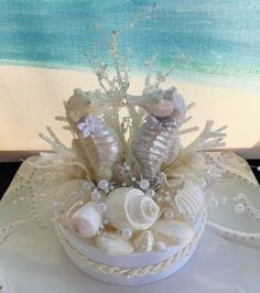 Seahorse Wedding Cake Topper~Seashell Wedding Cake Topper