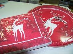 How about reindeers for Christmas tableware. #christmas #reindeer #santa #fun #holiday www.astylishcelebration.com.au