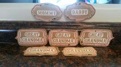 Creating Virginia Anne: Baby Shower Title Buttons - DIY