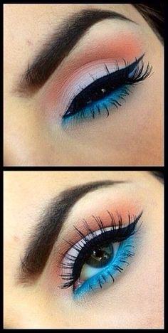 peach & ice blue