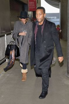 Airport Couture - John Legend and Chrissy Teigen