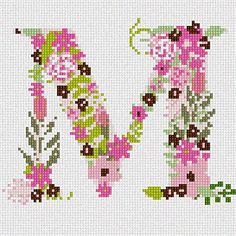The Letter M Flowering (Large) Needlepoint Canvas Pepita https://smile.amazon.com/dp/B01MFERTFV/ref=cm_sw_r_pi_dp_x_XNDjzbFYY4QFT