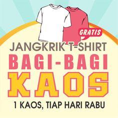Yuk ikutan kuis Jangkrik T-shirt di https://www.facebook.com/jangkrik.tshirt berhadiah 1 kaos setiap hari rabu lho!  #kuis #hadiah #kaos #JangkrikT-shirt