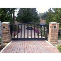 Custom Aluminum Single Swing Gate www.westcoastgates.ca Proudly Canadian and Located on Beautiful Vancouver Island!