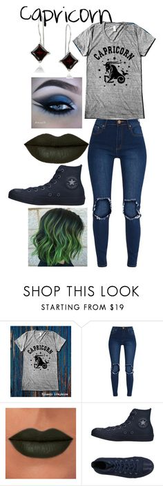 """""""Capricorn outfit"""" by djones24-1 ❤ liked on Polyvore featuring Rituel de Fille, Converse, Glitzy Rocks, Random and prettyful"""