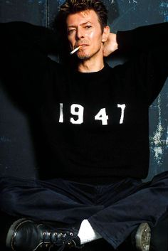 D B wearing a shirt with his birth year