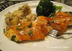 Slow Roasted Chipotle Salmon with Pineapple Rice