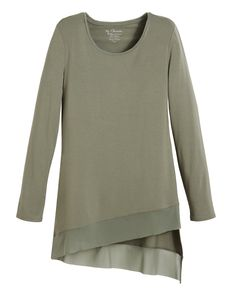 Chico's Ada Asymmetrical Hem Top