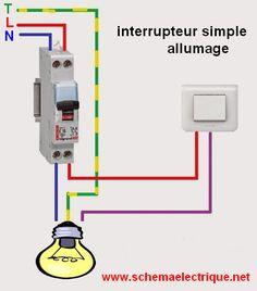 schéma électrique interrupteur simple allumage branchement et câblage interrupteur simple allumage norme d'installation…