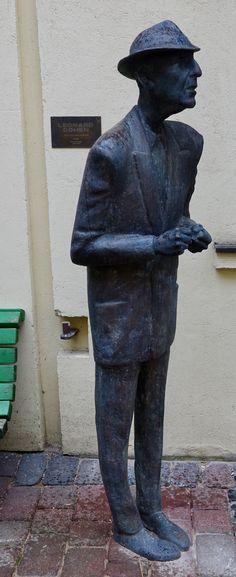 Leonard Cohen sculpture in Vilnius Leonard Cohen, Whistles, Garden Sculpture, Buddha, Statue, Outdoor Decor, Art, Art Background, Kunst