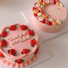 Pretty Birthday Cakes, Pretty Cakes, Beautiful Cakes, 23 Birthday Cake, Birthday Sweets, Amazing Cakes, Bolo Jake, Mini Cakes, Cupcake Cakes