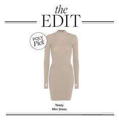 """""""The Edit: Yeezy Mini Dress"""" by polyvore-editorial ❤ liked on Polyvore featuring adidas Originals and theedit"""