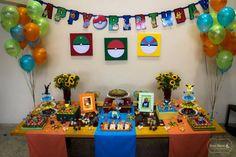 festa pokemón colorido