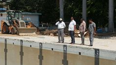 Jayanagar Swimming Pool Work Inspection with work Engineers