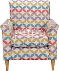 Buy Geometric Print Chair - Multicoloured at Argos.co.uk - Your Online Shop for Armchairs and chairs.