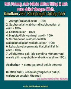 ZIKIR RABBANIYAH Hijrah Islam, Muslim Quran, Doa Islam, Reminder Quotes, Self Reminder, Muslim Quotes, Islamic Quotes, Heaven Quotes, Quran Quotes Inspirational
