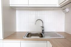 Designed by Kaisa Kallatsa www. Sink, Kitchen, Design, Home Decor, Bakken, Sink Tops, Vessel Sink, Cooking, Decoration Home