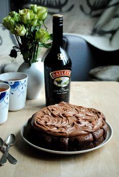 Chokoladekage med Baileysganache