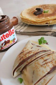 Crepes de crema de chocolate (Nutella)