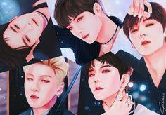 Nu'est Jr, Nu Est, Kpop Fanart, Drawing Stuff, Chibi, Artworks, Idol, Fan Art, Celebs