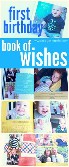 """Love this idea! Book of life """"wishes"""" or notes from the people who love him/her.  www.lets-get-together.com #firstbirthday #baby #party"""