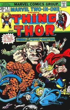 The Thing - The Mighty Thor - Pawns Of The Puppet-master - Fantastic Four - Bald Man