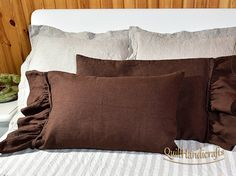 This luxurious unique natural product natural linen. The pillowcase handmade of 100% linen fabric, which will become even softer with every wash. This listing include: - Linen Pillow Sham Set of 2pcs. Heavier weight linen. Pillowcase durable inner closed French connecting the seams (the edges only). Our inen fabrics are woven from high-quality European flax fibers. Our Bedding has been pre washed and softened so you can use them in your bedroom. Long life – linens can last more than 25…
