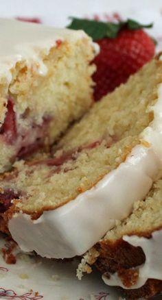 Lemon Strawberry Loaf Cake