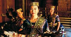 Lady performers in traditional dress, Sarawak, Malaysia